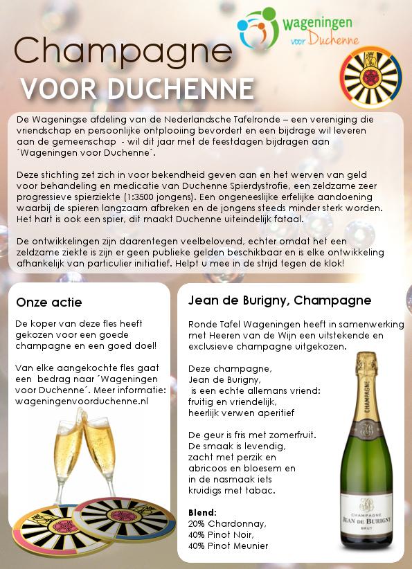 Ronde Tafel Wageningen.Champagne Ronde Tafel 66 Wageningen Voor Duchenne